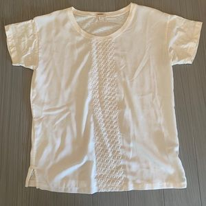 J Crew Short Sleeve Blouse